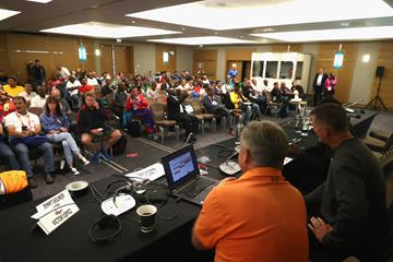 Participants at the IAAF World Coaches Conference in London (Getty Images)