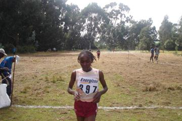 Winner of the women's junior race in Nyahururu Susan Wairimu (Peter Njenga)