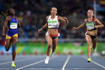 Jessica Ennis-Hill in the heptathlon 200m at the Rio 2016 Olympic Games (Getty Images)