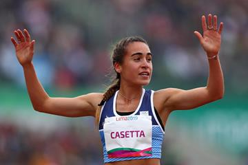 Belen Casetta takes bronze in the steeplechase at the Pan-American Games (Getty Images)