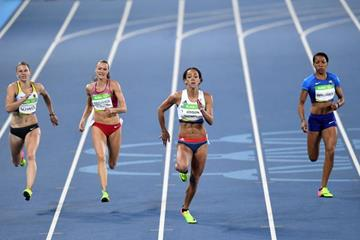 Katarina Johnson-Thompson in the heptathlon 200m at the Rio 2016 Olympic Games (Getty Images)