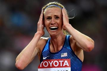 3a68830a34 Courtney Frerichs after the steeplechase final at the IAAF World  Championships London 2017 (Getty Images) © Copyright