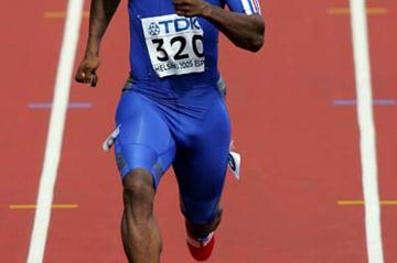 Ronald Pognon of France in the men's 200m heats (Getty Images)