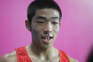 Takumu Furuya at the Asian Youth Games (David Tarbotton)