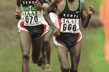 Tergat and Ivuti (© Allsport)