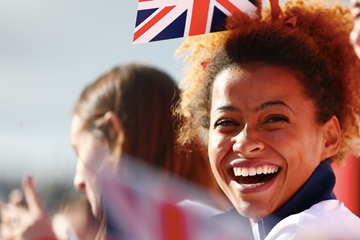 Jazmin Sawyers during the GB Heroes Parade 2016 (Getty Images)