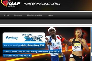 The IAAF Fantasy Athletics Game Landing Page (IAAF.org)