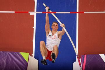 Piotr Lisek at the IAAF World Indoor Championships Birmingham 2018 (Getty Images)