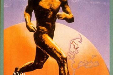 The official poster of the 1952 Olympic Games (Getty Images)