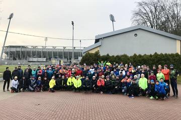 Participants for the first Gdynia 2020 mass race training session gather in the host city (LOC)
