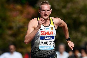 German sprinter Lukas Jakubczyk at Fly Europe Paris (AFP / Getty Images)