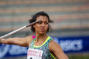Morgan Lake in the heptathlon javelin at Multistars in Florence (Organisers)