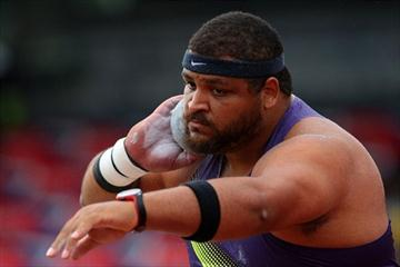 Reese Hoffa, winner of the men's Shot (Getty Images)