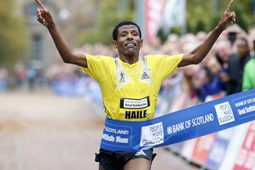 Haile Gebrselassie wins the 2013 Great Scottish Run Half Marathon in Glasgow (organisers)