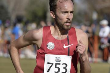 Chris Derrick at the 2015 USATF Cross Country Championships  (Kirby Lee)