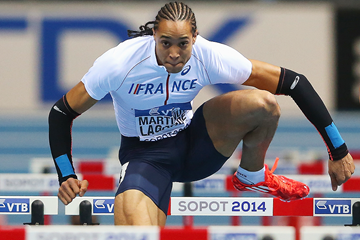 Pascal Martinot-Lagarde in the 60m hurdles at the IAAF World Indoor Championships (Getty Images)