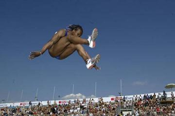 Eunice Barber of France wins the European Cup Long Jump (Getty Images)