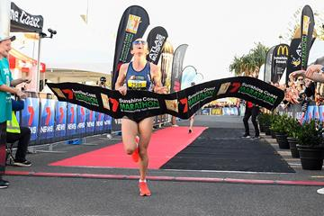 Lisa Weightman wins the Sunshine Coast Half Marathon (Getty Images)