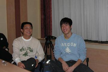 Liu Xiang at the IAAF Media Training (IAAF)