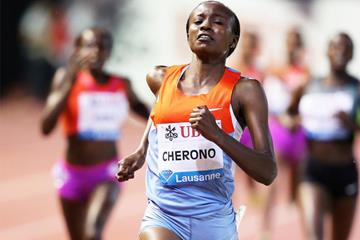 Mercy Cherono wins the 3000m at the Diamond League meeting in Monaco (Gladys Chai van der Laage)