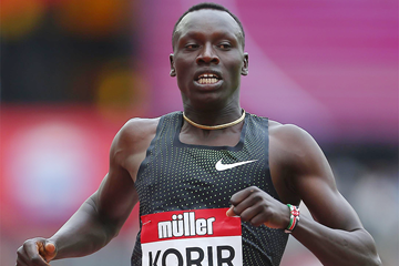 Emmanuel Korir in the 800m at the IAAF Diamond League meeting in London (Getty Images)
