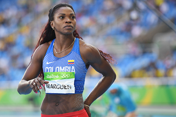 Caterine Ibarguen in the triple jump at the Rio 2016 Olympic Games (AFP / Getty Images)