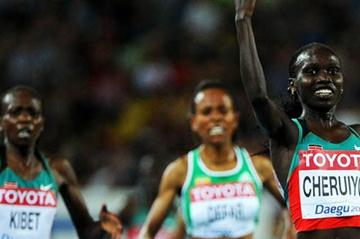 Vivian Jepkemoi Cheruiyot of Kenya won the gold medal in the women's 5000 metres final (getty Images)