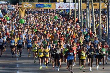 The start of the 2012 Maraton de Sevilla (Organisers)
