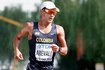 Eider Arevalo in the 20km race walk at the IAAF World Championships Beijing 2015 (Getty Images)