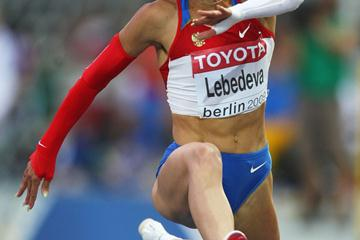 Former World Champion Russia's Tatyana Lebedeva in the women's Triple Jump final (Getty Images)