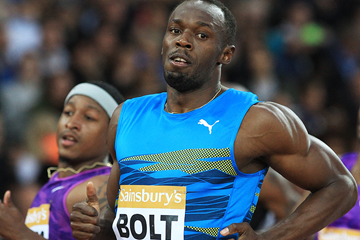 Usain Bolt wins the 100m at the IAAF Diamond League meeting in London (Jean-Pierre Durand)