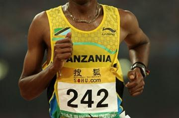 Ezekiel Ngimba en route to his 10,000m victory at 'Good Luck Beijing' (Getty Images)