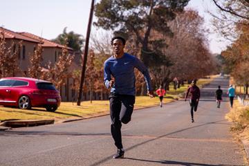 South African sprinter Gift Leotlela (Roger Sedres)