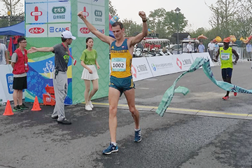 Dane Bird-Smith in action at the Around Taihu International Race Walking Multi-Day Competition ()