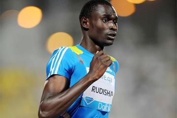 David Rudisha on his way to 800m victory in Doha (Jiro Mochizuki)