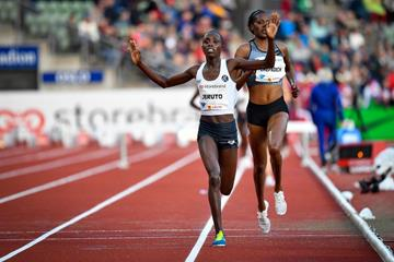 Norah Jeruto gets a surprise steeplechase win at the IAAF Diamond League meeting in Oslo (Deca Text & Bild)