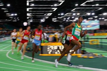 Yomif Kejelcha in the 3000m at the IAAF World Indoor Championships Portland 2016 (Getty Images)