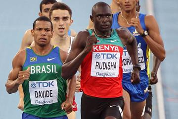 David Rudisha in the men's 800m semi-final (Getty Images)