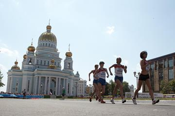 A general view of the women's 20km race in Saransk (Getty Images)