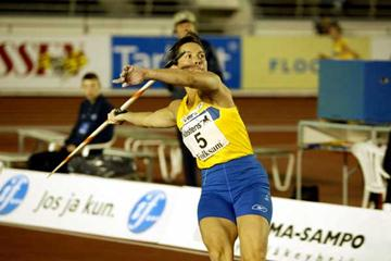 Elisabet Wahlander - 43yrs - 25 appearances at the Finnkampen, throws in Helsinki (Christain Westerback)