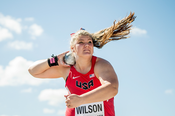 US thrower Alyssa Wilson in action at the IAAF World U20 Championships (Getty Images)