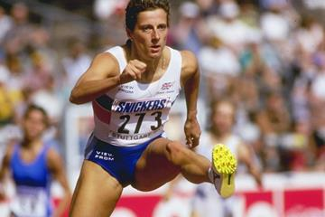 Sally Gunnell at the 1993 World Championships (Getty Images)