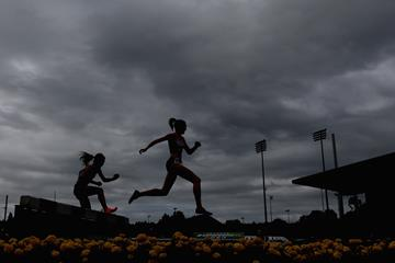 Athletes in action in the steeplechase (Getty Images)