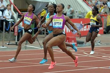 Another Samsung Diamond League 100m victory for Carmelita Jeter, this time in Gateshead (Mark Shearman)