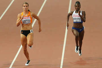 Dafne Schippers and Dina Asher-Smith in action (Getty Images)