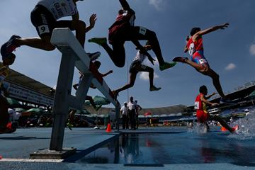 Steeplechasers in action at the IAAF World U18 Championships (Getty Images)