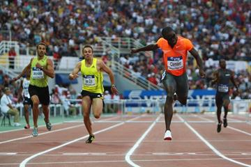 World Champion Kerron Clement claims victory in the men's 400m Hurdles (Getty Images)
