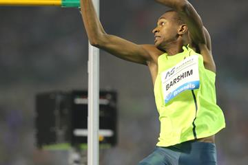 Mutaz Barshim at the 2014 IAAF Diamond League final in Brussels (Gladys von der Laage)