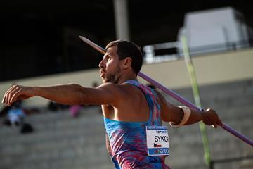 Jiri Sykora in action in the decathlon javelin in Arona (Organisers)