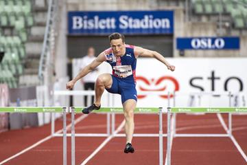Karsten Warholm smashes the 300m hurdles world best in Oslo (Thomas Windestam / DECA Text&Bild)